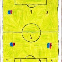 Estadio de futbol ( Julian fernandez, 7 años) - Dibujar Dibujos - Dibujos de NIÑOS - Dibujos de DEPORTES - Dibujos de los juegos olimpicos del CEIP Alvaro Cunqueiro - Mondoleño
