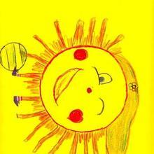 Ilustración infantil : Sol olimpico ( Maria Devesa, 9años)