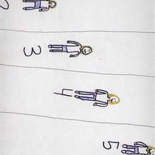 Carrera de natación (Marta Perez, 7 años) - Dibujar Dibujos - Dibujos de NIÑOS - Dibujos de DEPORTES - Dibujos de los juegos olimpicos del CEIP A Gandara Sofan-Carballo