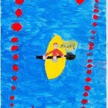 Canoe ( Miguel Hermida, 8 años) - Dibujar Dibujos - Dibujos de NIÑOS - Dibujos de DEPORTES - Dibujos de los juegos olimpicos del CEIP Alvaro Cunqueiro - Mondoleño
