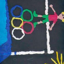 Anillos olimpicos (Nerea bajatierra, 10 años) - Dibujar Dibujos - Dibujos de NIÑOS - Dibujos de DEPORTES - Dibujos de los juegos olimpicos del CEIP Alvaro Cunqueiro - Mondoleño
