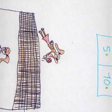 Partido de voleibol (Noa Garcia, 7 años)