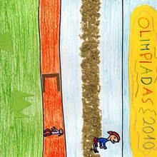 Olimpiadas (Pablo Maseda, 8 años) - Dibujar Dibujos - Dibujos de NIÑOS - Dibujos de DEPORTES - Dibujos de los juegos olimpicos del CEIP Alvaro Cunqueiro - Mondoleño