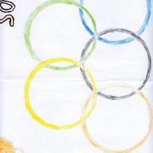Simbolos olimpicos (Pablo Souto, 6 años)
