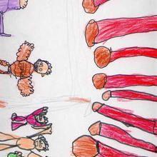 Ilustración infantil : Fiesta olimpica (Pablo Suarez, 7 años)
