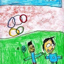 Son olimpicos (Pau Rivas, 4 años) - Dibujar Dibujos - Dibujos de NIÑOS - Dibujos de DEPORTES - Dibujos de los juegos olimpicos del CEIP Francisco Vales Villamarin - Betanzos