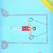 Anillos (Ricardo Canabella, 8 años) - Dibujar Dibujos - Dibujos de NIÑOS - Dibujos de DEPORTES - Dibujos de los juegos olimpicos del CEIP Alvaro Cunqueiro - Mondoleño