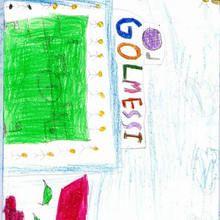 Gol Messi (Sakina Hammooch, 7 años) - Dibujar Dibujos - Dibujos de NIÑOS - Dibujos de DEPORTES - Dibujos de los juegos olimpicos del CEIP Alvaro Cunqueiro - Mondoleño