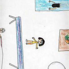 Ilustración infantil : Viga de equilibrio (Sara Nieto, 9 años)
