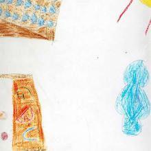 Ilustración infantil : Estadio olimpico (Sergio Calvo, 8 años)