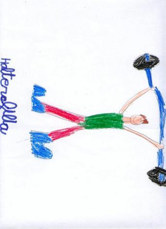 Dibujo de Simon Alvarez - 5 años