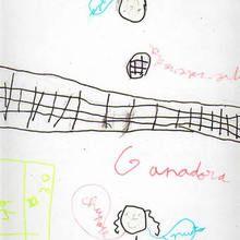 Ilustración infantil : Voleibol (Uxia Pena, 6 años)