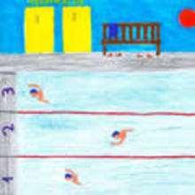 Dibujos de los juegos olimpicos del CEIP Perez Viondi - A Estrada