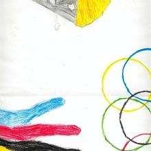 Olimpismo (Iker Romero, 9 años) - Dibujar Dibujos - Dibujos de NIÑOS - Dibujos de DEPORTES - Dibujos de los juegos olimpicos del CEIP Santa Maria do Castro - Boiro