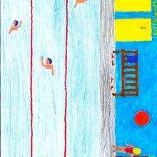 100m natacion (Monica Silva, 9 años)