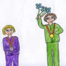 Dibujos de los juegos olimpicos del CEIP Graxal - Cambre