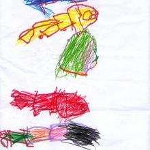 Ilustración infantil : Dibujo de Tamara Araujo - 4 años