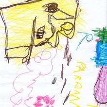 Ilustración infantil : Dibujo de Tomas Gomez - 4 años