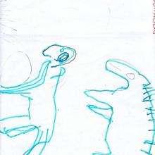 Ilustración infantil : Dibujo de Xurxo Costas - 4 años