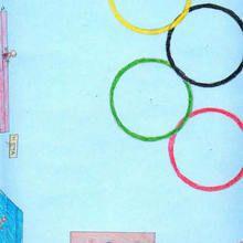 Colores Olimpicos ( Xana Rodriguez, 10 años) - Dibujar Dibujos - Dibujos de NIÑOS - Dibujos de DEPORTES - Dibujos de los juegos olimpicos del CEIP Alvaro Cunqueiro - Mondoleño