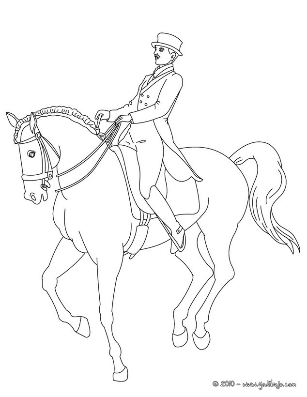 man riding horse coloring pages - photo#6