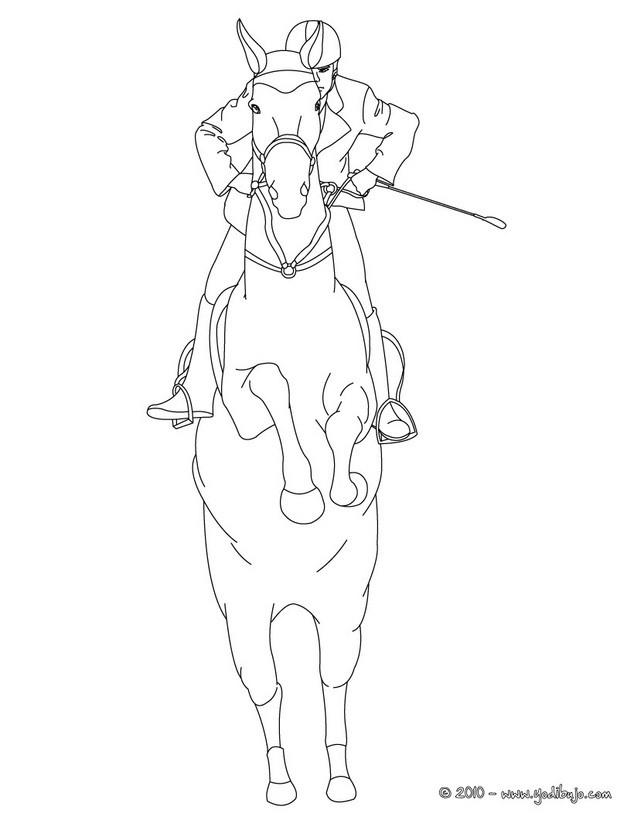 Paard Kleurplaat Spring Dibujos Para Colorear Un Caballo Listo Para Saltar Con