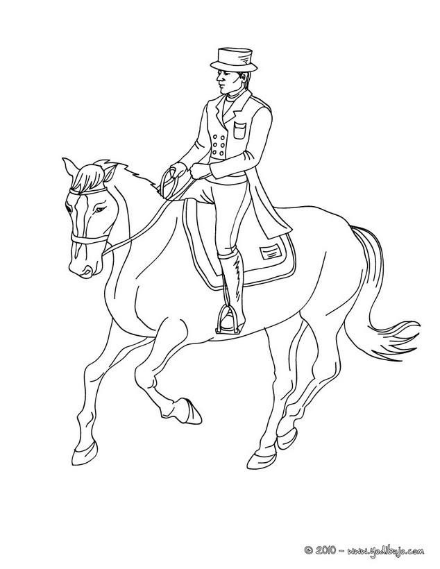 Worksheet. Dibujos para colorear un jinete a caballo trote  eshellokidscom