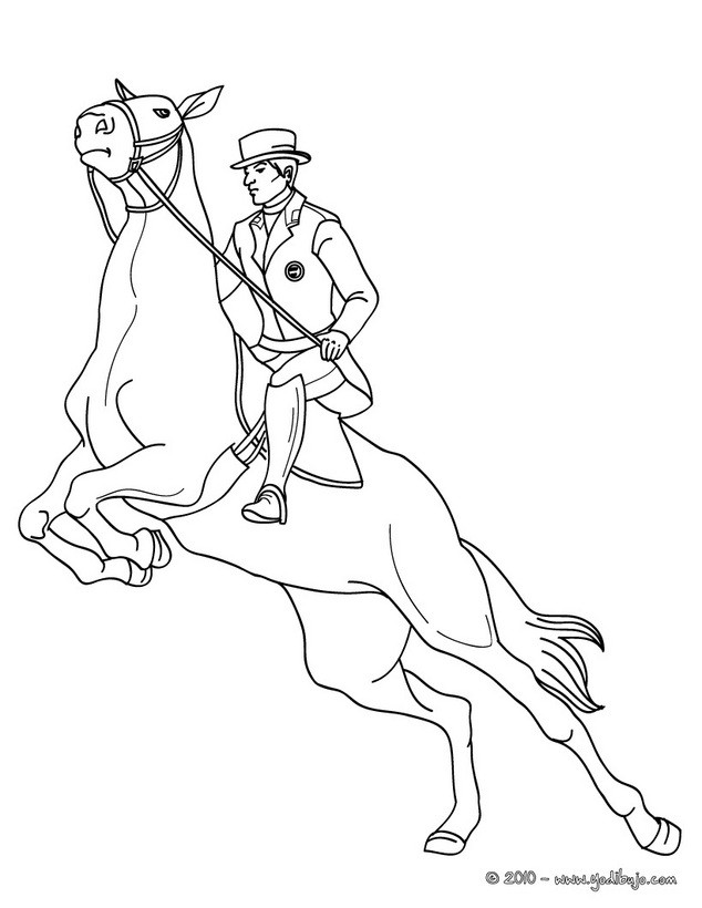 man riding horse coloring pages - photo#9