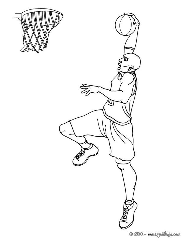Dibujos para colorear kobe bryant anota con un dunk - es.hellokids.com