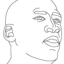 Dibujo de Michael Jordan par colorear - Dibujos para Colorear y Pintar - Dibujos para colorear DEPORTES - Dibujos de BALONCESTO para colorear - Dibujos para colorear JUGADORES NBA - Dibujos de MICHAEL JORDAN para colorear