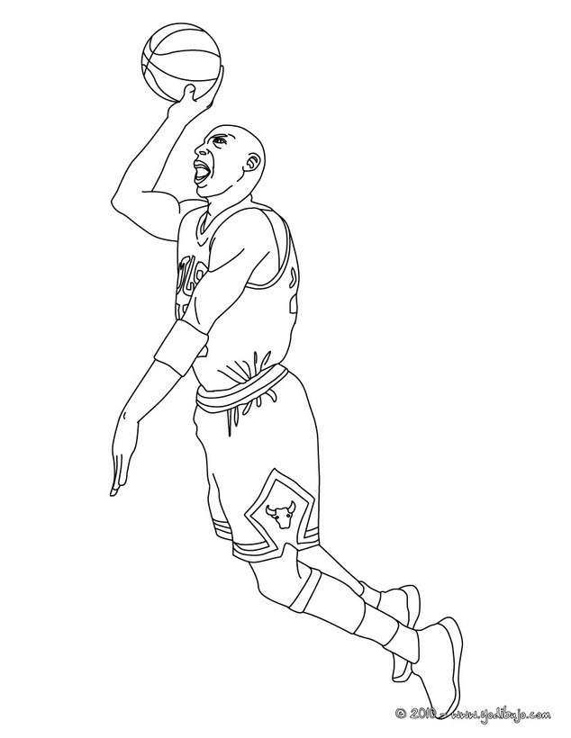 michael jordan coloring pages free - photo #15