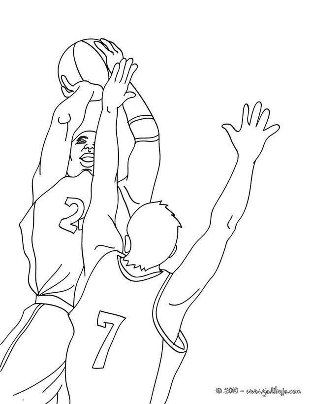 Dibujos para colorear un pase de baloncesto - es.hellokids.com