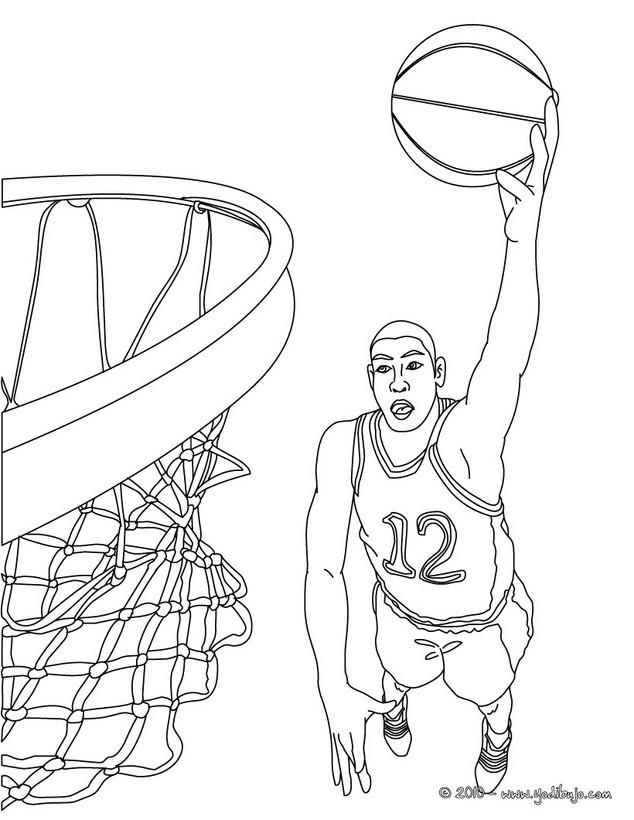 Dibujos de BALONCESTO para colorear - 34 Dibujos para COLOREAR los ...