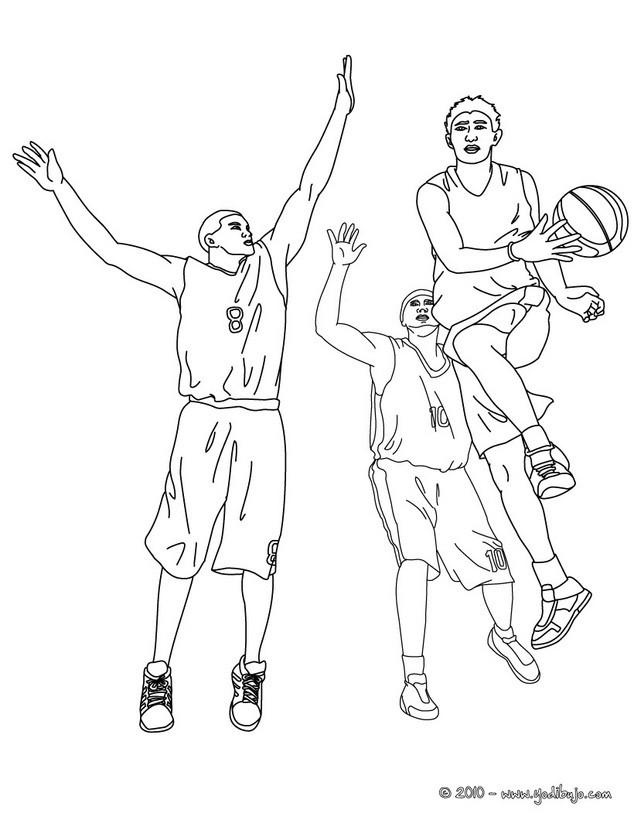 Magnífico Baloncesto Colorear Jugadores Nba Jugadores Fotos ...