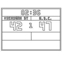 marcador de un partido basquetbol