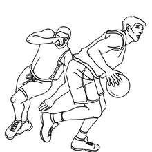 jugadores desplazandose por la cancha de BALONCESTO