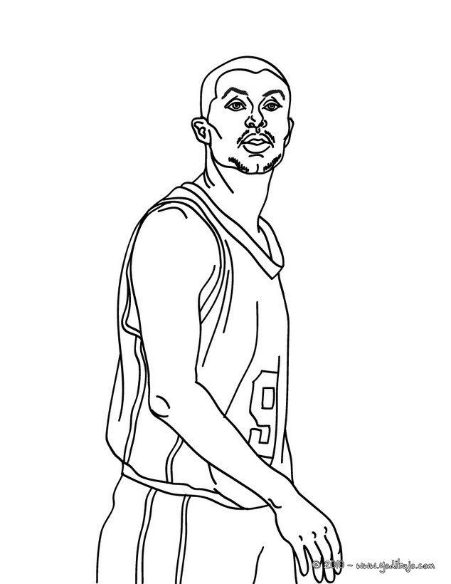 Dibujos para colorear lebron james - es.hellokids.com