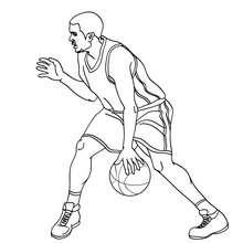 Dibujo de un regate de TONY PARKER - Dibujos para Colorear y Pintar - Dibujos para colorear DEPORTES - Dibujos de BALONCESTO para colorear - Dibujos para colorear JUGADORES NBA - Dibujos de TONY PARKER para colorear