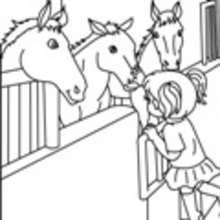 caballo, Dibujos para pintar CENTRO ECUESTRE