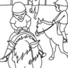 caballo, Dibujos de HIPICA para pintar