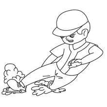 Dibujo de un jugador de beisbol - Dibujos para Colorear y Pintar - Dibujos para colorear DEPORTES - Dibujos de BEISBOL para colorear - Dibujos de JUGADORES DE BEISBOL para colorear