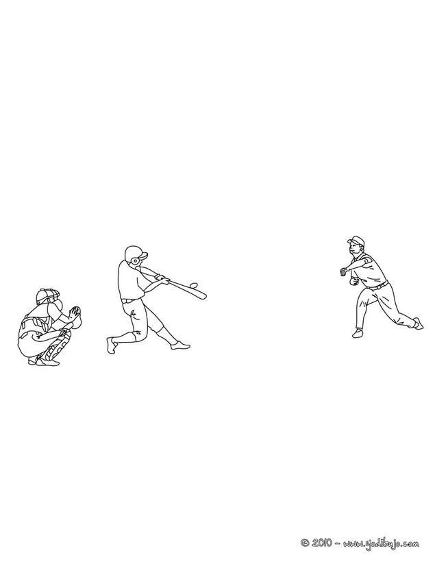 Dibujos de BEISBOL para colorear - 20 Dibujos para COLOREAR los ...