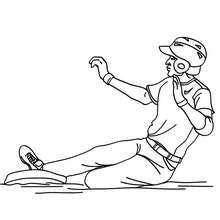 Dibujo de un corredor de beisbol - Dibujos para Colorear y Pintar - Dibujos para colorear DEPORTES - Dibujos de BEISBOL para colorear - Dibujos de JUGADORES DE BEISBOL para colorear