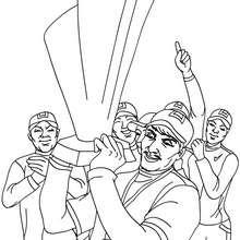Dibujo del equipo ganador del partido de beisbol - Dibujos para Colorear y Pintar - Dibujos para colorear DEPORTES - Dibujos de BEISBOL para colorear - Dibujos de PARTIDO DE BEISBOL para colorear