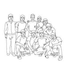 Dibujo de un equipo de beisbol - Dibujos para Colorear y Pintar - Dibujos para colorear DEPORTES - Dibujos de BEISBOL para colorear - Dibujos de PARTIDO DE BEISBOL para colorear
