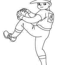 Dibujo de un lanzador abridor de beisbol - Dibujos para Colorear y Pintar - Dibujos para colorear DEPORTES - Dibujos de BEISBOL para colorear - Dibujo del LANZADOR de baseball
