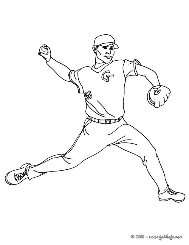 beisbol coloring pages - photo#8