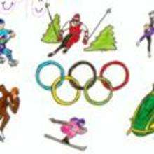 Dibujos de los juegos olimpicos del CPR Ferroviario - Monforte de Lemos