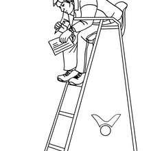 Dibujo del primer arbitro - Dibujos para Colorear y Pintar - Dibujos para colorear DEPORTES - Dibujos de VOLEIBOL para colorear