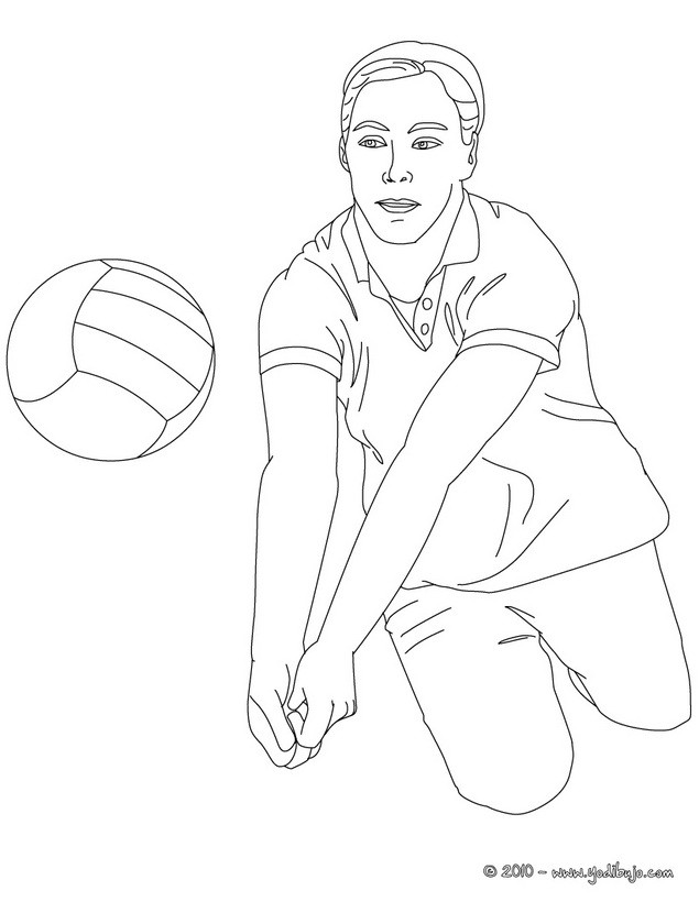 Dibujo para colorear : una recepcion de rodillas